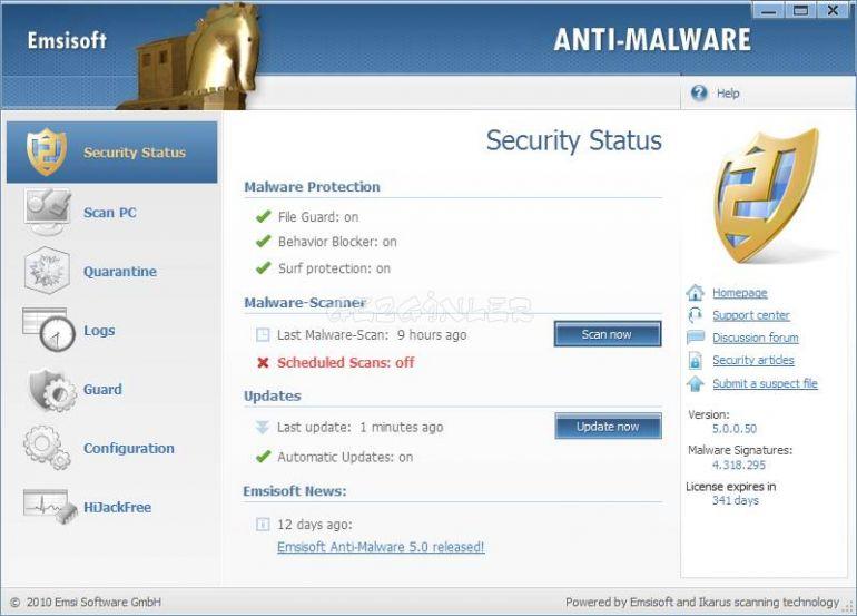 Emsisoft Anti Malware Ekran G 246 R 252 Nt 252 S 252 Gezginler