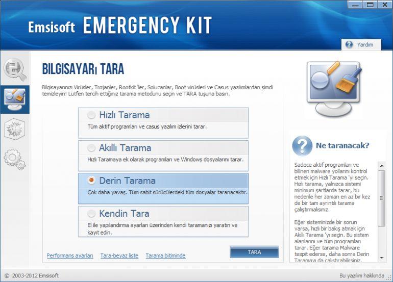 Emsisoft Emergency Kit Ekran G 246 R 252 Nt 252 S 252 Gezginler