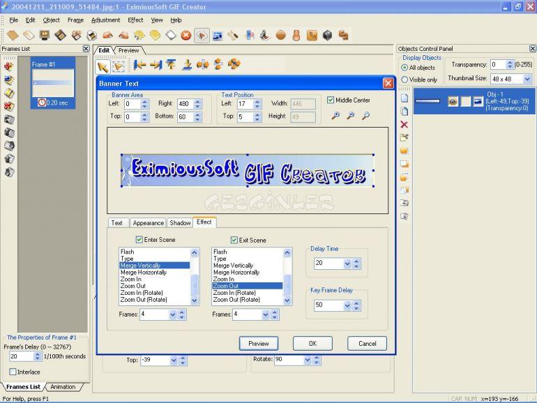 Eximioussoft gif creator ekran görüntüleri