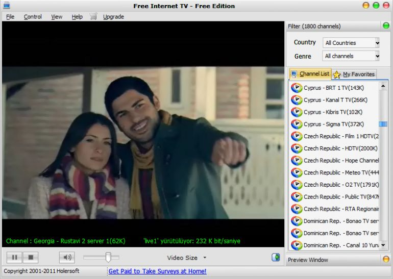 Free Internet TV Ekran Görüntüleri
