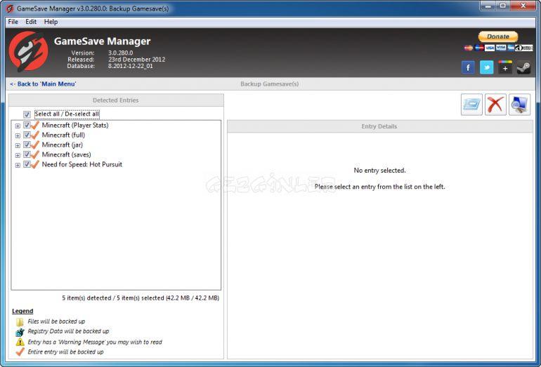 GameSave Manager Ekran Görüntüleri