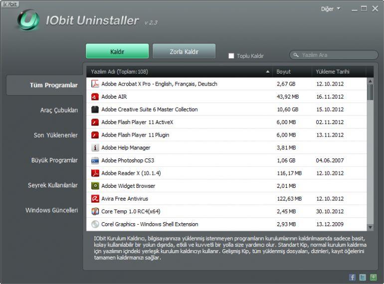 IObit Toolbox Ekran Görüntüsü - Gezginler