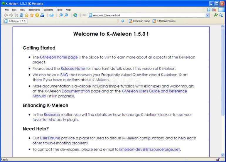 K-Meleon Ekran Görüntüsü - Gezginler K Meleon Browser Logo