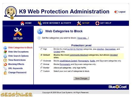 how to avoid k9 web protection