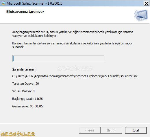 Microsoft Safety Scanner Ekran G 246 R 252 Nt 252 S 252 Gezginler