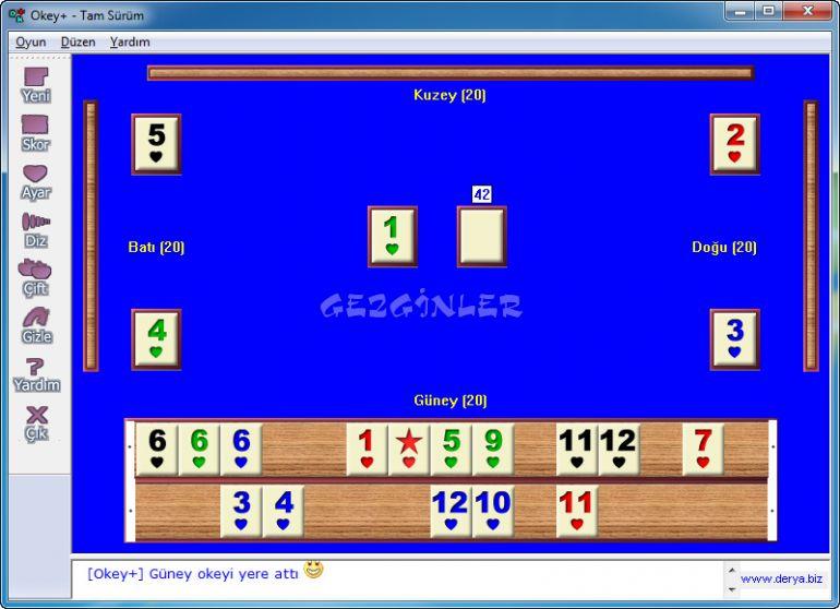 Okey Oyunu Ekran G 246 R 252 Nt 252 S 252 Gezginler