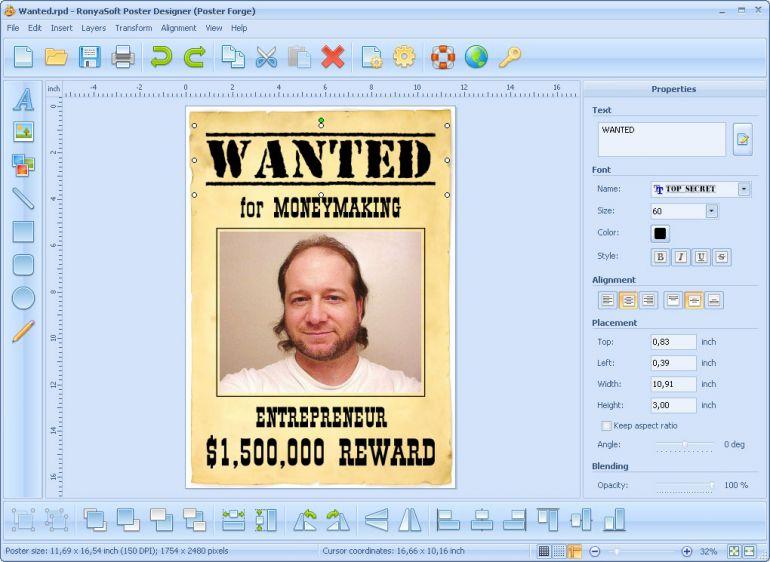 Poster designer ekran görüntüleri