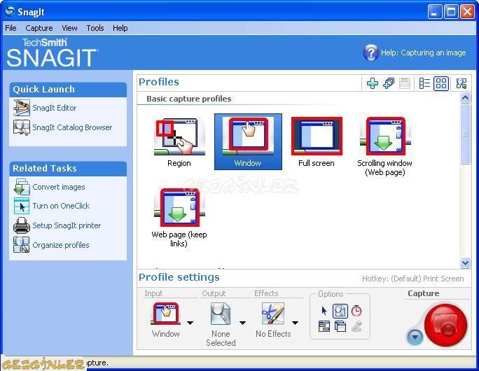 Snagit Screen Capture Ekran G 246 R 252 Nt 252 S 252 Gezginler