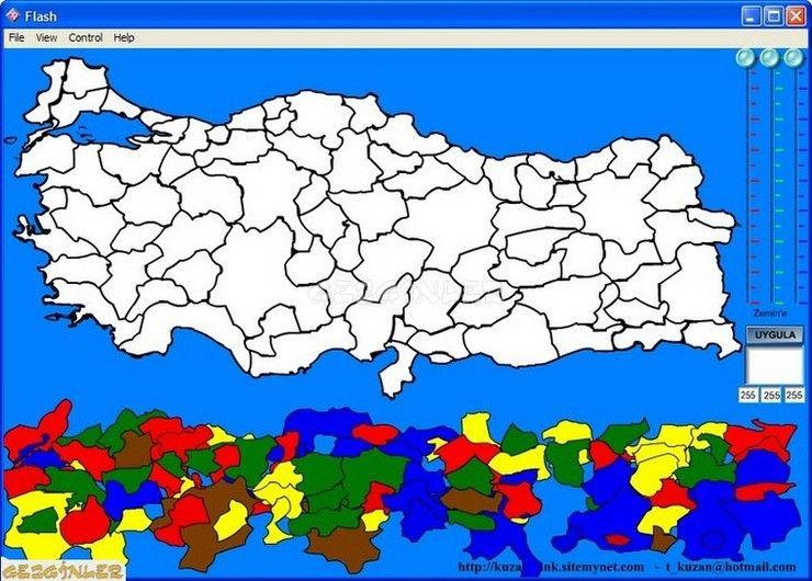 Türkiye Haritası Oyunu Ekran Görüntüsü Gezginler