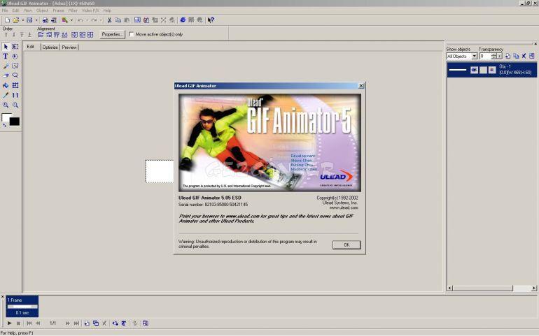 Ulead gif animator ekran görüntüleri