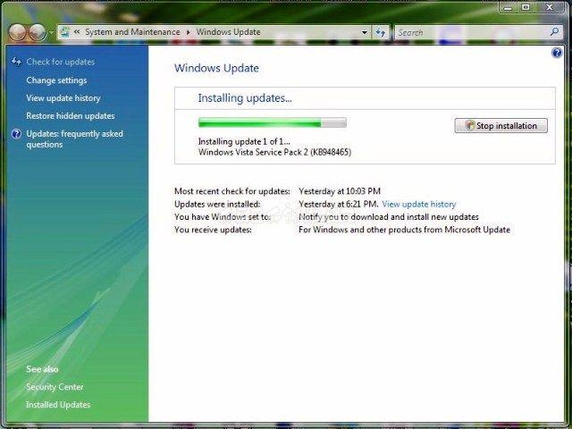 Vista Service Pack 1 - YouTube