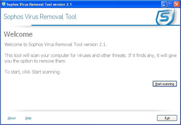 Sophos Virus Removal Tool Ekran G 246 R 252 Nt 252 S 252 Gezginler