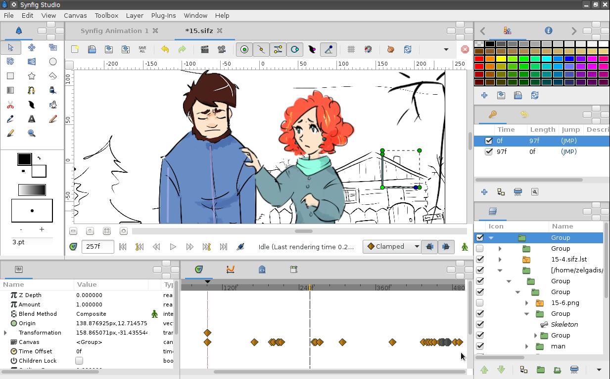 Программа для анимационных открыток, картинках днем