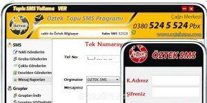 Öztek Toplu SMS Programı Ekran Görüntüsü