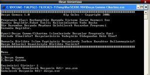Dosya Gömme Programı Ekran Görüntüsü