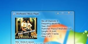 A Softwares' Music Player Ekran Görüntüsü
