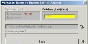 Access DB Onarım Ekran Görüntüsü