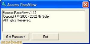 Access Password Recovery Ekran Görüntüsü