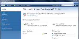 Acronis True Image WD Edition Ekran Görüntüsü