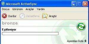 ActiveSync Ekran Görüntüsü