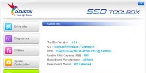 ADATA SSD Toolbox Ekran Görüntüsü