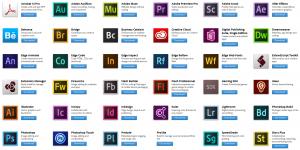 Adobe Creative Cloud Ekran Görüntüsü