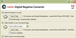 Adobe DNG Converter Ekran Görüntüsü