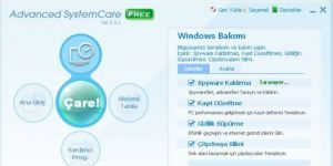 Advanced SystemCare Free Ekran G�r�nt�s�