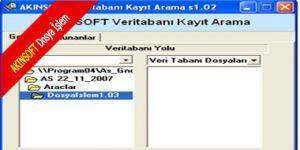 AKINSOFT Dosya İslem Ekran Görüntüsü