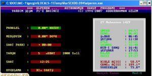 Alperen Ezan Vakit Program� Ekran G�r�nt�s�