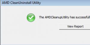 AMD Clean Uninstall Utility Ekran Görüntüsü