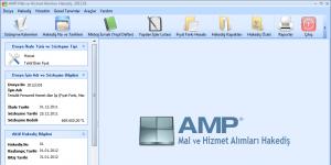 AMP Mal ve Hizmet Alımları Hakediş Ekran Görüntüsü