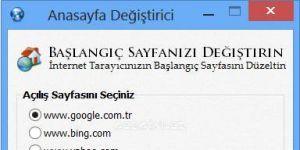 Anasayfa De�i�tirme Program� | Home Page Remove Ekran G�r�nt�s�