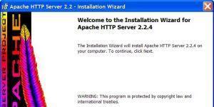 Apache HTTP Server Ekran Görüntüsü