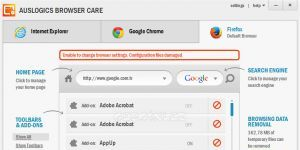 Auslogics Browser Care Ekran Görüntüsü