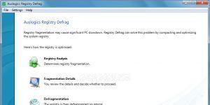 Auslogics Registry Defrag Ekran Görüntüsü