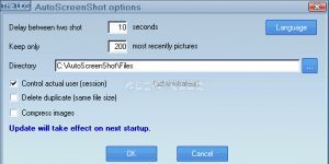AutoScreenShot Ekran Görüntüsü