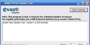 Avast Virus Cleaner Ekran Görüntüsü
