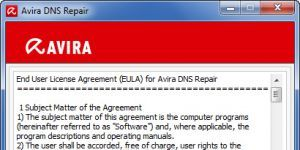 Avira DNS Repair Ekran Görüntüsü