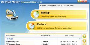 BackUp Maker Ekran Görüntüsü