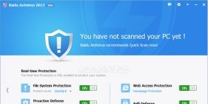 Baidu Antivirus Ekran Görüntüsü