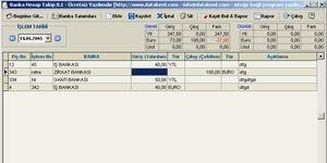 Banka Hesap Takip Ekran Görüntüsü