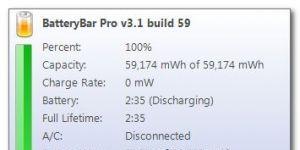 BatteryBar Ekran Görüntüsü