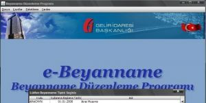 Beyanname Düzenleme Programı Ekran Görüntüsü