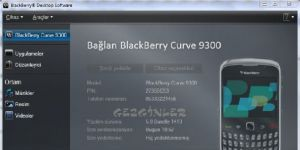 BlackBerry Masa�st� Yaz�l�m� Ekran G�r�nt�s�