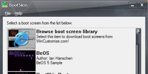 BootSkin Ekran Görüntüsü