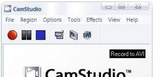 Camstudio Ekran Görüntüsü