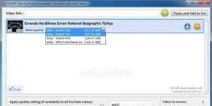 ChrisPC Free VideoTube Downloader Ekran Görüntüsü