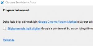 Chrome Temizleme Aracı Ekran Görüntüsü