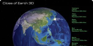 Cities of Earth Free 3D Screensaver Ekran Görüntüsü